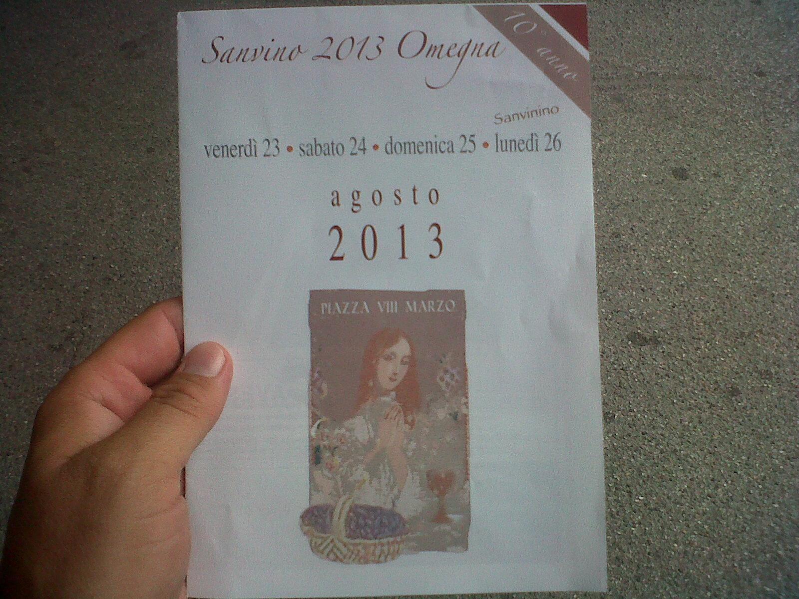 Copertina depliant Sanvino 2013